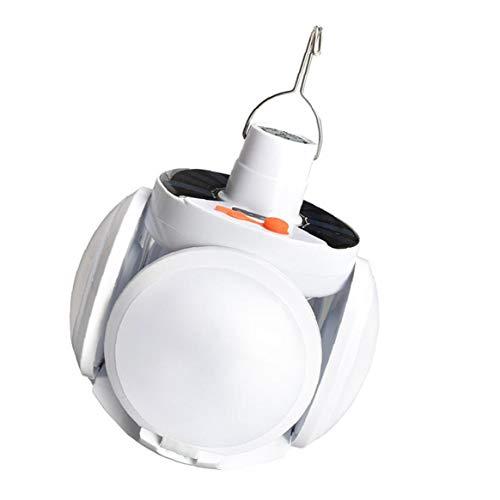 Folding Birne Solar Light Weiß Lade-Lampe Camping 300w Nachladbare Wasserdichte Notfall Usb-garten Helle Lampe Die Ideale Wahl