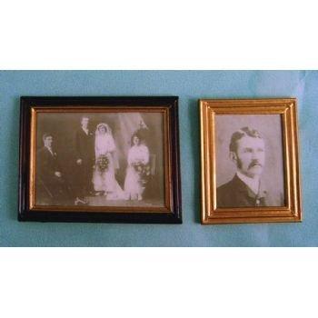 SA-Dollshouse D1181 Bilderset mit Bilderrahmen (2 St.) 1:12 für Puppenhaus