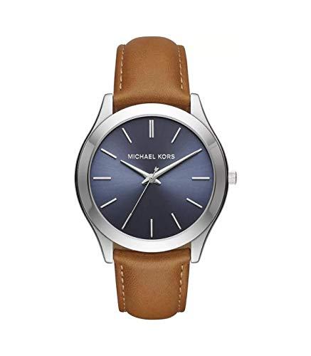 Michael Kors Reloj Analógico para Hombres de Cuarzo con Correa en Cuero MK8508