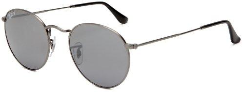 Big Sale Ray-Ban ORB3447 029/K3 Polarized Round Sunglasses,Gunmetal Frame/Grey Mirror Lens,50 mm