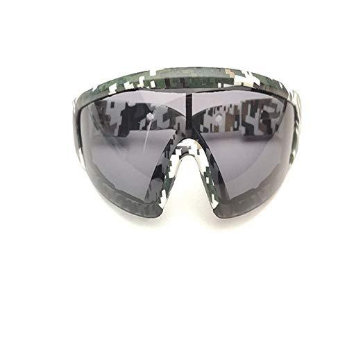 Xiaomizi Anti-Beschlag-Brille, polierter Schnitt, spritzwassergeschützt, stoßfest, Arbeitsschutz, Schutzbrille, Reiten, winddicht, Sandbrille Gr. Goggle, Camouflage Rahmen Grau