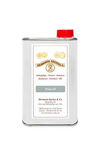 El aceite de pulido de Hermann Sachse es un recurso para abrillantar la goma laca