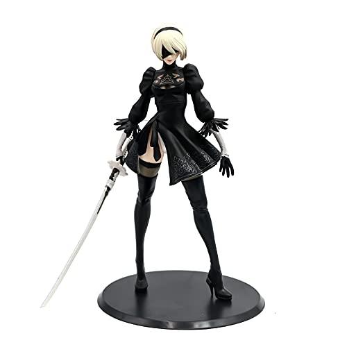 LvwQ Anime Game Nier Automata Action Figure, 28 Cm PVC Action Figure Modello Decorazione Desktop Regalo di Compleanno Regali di Festa