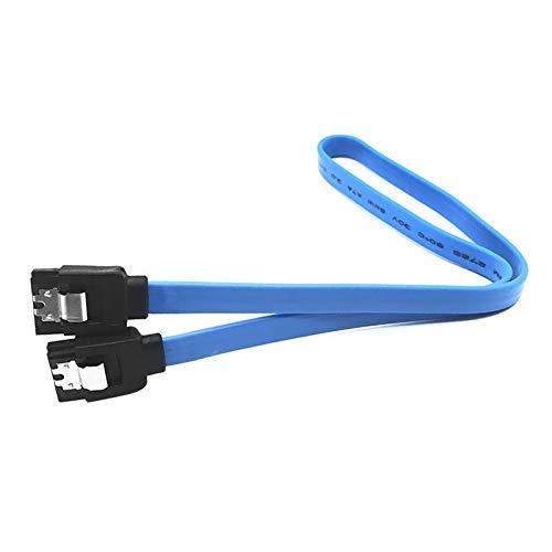 YEEWEN Nueva 40cm Sata Cable SATA 3.0 Adaptador SSD en el Disco Duro HDD Cable Recto de 90 Grados Sata 3.0 Cable for ASUS Gigabyte MSI Cable (Cable Length : 40cm, Color : Straight)