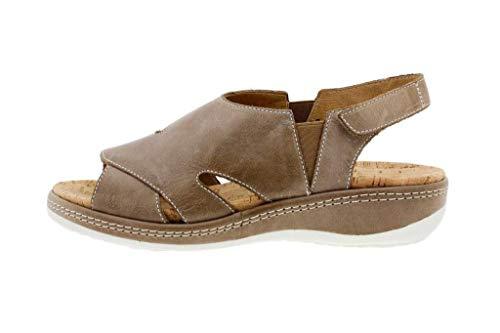 Calzado mujer confort de piel color marrón (PieSanto)