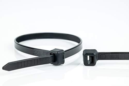 WKK Kabelbinder schwarz, 140x3,6mm, 100 Stück