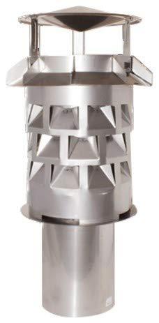 Windkat-Schornsteinaufsatz mit Einsteckstutzen rund Ø 246 mm - Nennweite Ø 250 mm