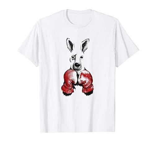 Känguru mit Boxhandschuhen Boxsack Sport T-Shirt
