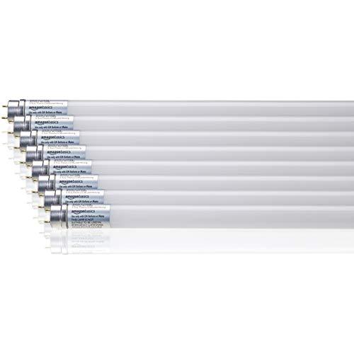AmazonBasics Professional - LED-Leuchtmittel, T8-Röhre, 600 mm, 800 lm, 8 W (entspricht 18-W-Birne), Naturweiß, 4000 K, G13, 8er-Pack