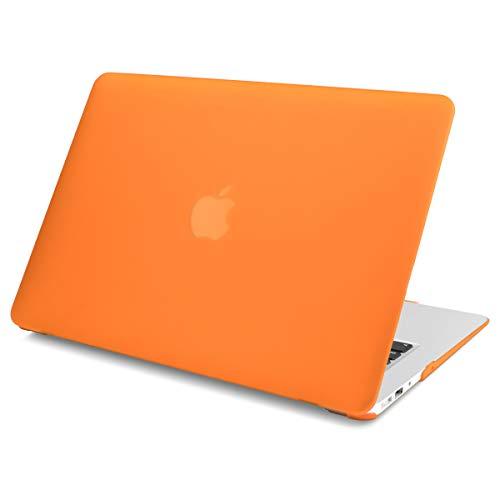 Batianda Funda MacBook Pro 15 A1286 Case Cover, Ultra Slim Cubierta de Plástico Duro Caso Carcasa para MacBook Pro 15.4 Pulgadas con CD-ROM Modelo - Naranja