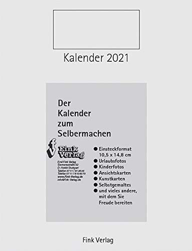 Kalender zum Selbermachen 2021: Einsteckkalender [Titel Hoch]: Einsteckkalender für PostkartenTitel: Hochformat