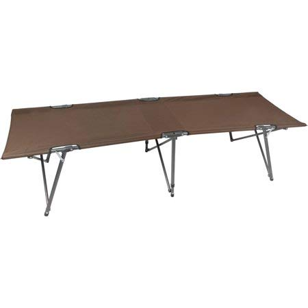 Ozark Trail Compact Basic Comfort Folding Cot with Easy Setup, Brown