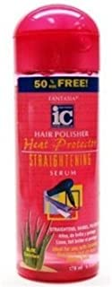 Fantasia High Potency IC Heat Protector Straightening Serum, Hair Polisher, 6 oz (Pack of 2)
