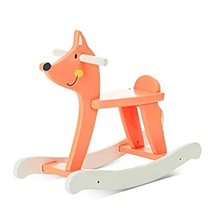 Wooden Rocking Horse,Red,Kids Rocking Horse Chair Ride Toy for Small Children for Nursery & Playroom