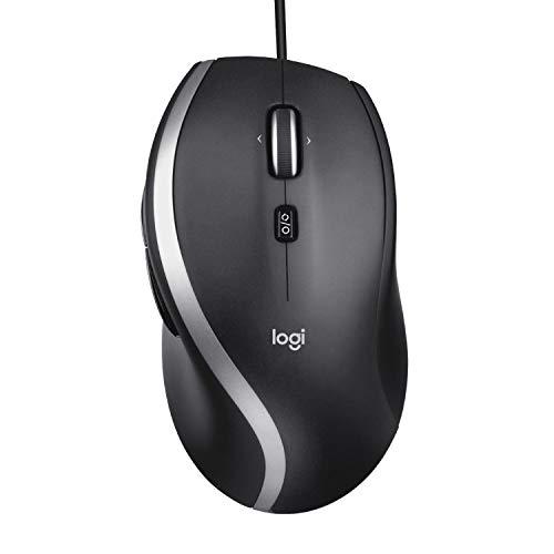 Logitech M500s Kabelgebundene Maus mit fortschrittlicher hyperschneller Scroll- und Kippfunktion, anpassbaren Tasten, hochpräziser Abtastung mit DPI-Schalter, USB-Plug&Play - Grau