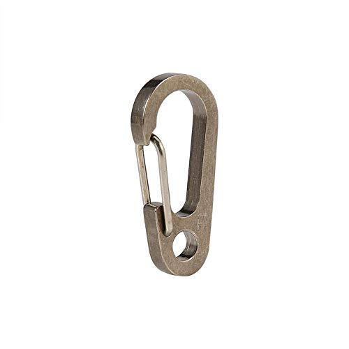 ZEH Karabiner Schlüsselanhänger Titanlegierung Keyring Clip Schnellhaken Schnell Pull Karabiner Schlüsselanhänger Haken Werkzeug for das Wandern (Natural) FACAI (Color : Natural)