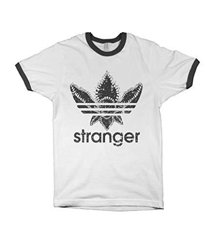 1/4 Mile Kult Clothing Retro Baseball Stranger Things T-Shirt (S, White/Black)