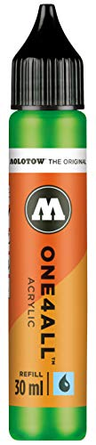 Molotow mo693222Refill one4all, recarga para marcador permanente 30ml, 1pieza, kakao77universes verde