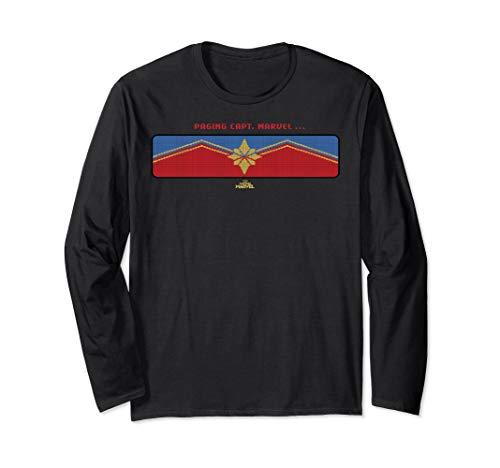 Captain Marvel Paging Capt. Marvel Logo Langarmshirt