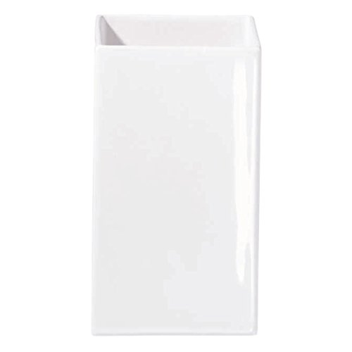ASA Quadro Vase, Steingut, weiß, 16 cm