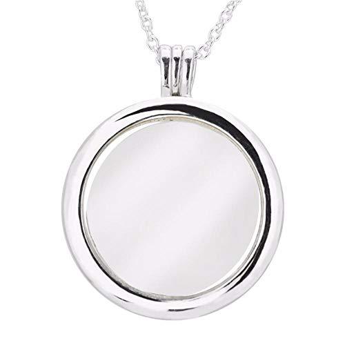 Roapk Halsketten Große Schwimmende Medaillon Anhänger Halskette 100% 925 Sterling Silber Schmuck Für Frauen 75Cm