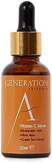Generation Skincare Vitamina C Suero - Ácido Hialurónico - Imprimación hidratante para pieles grasas, secas y sensibles - Elimina las cicatrices del acne