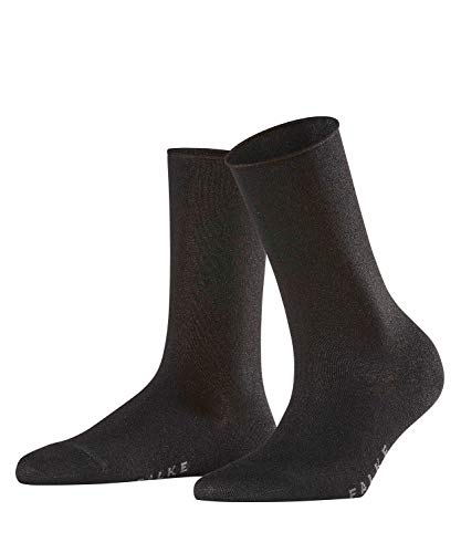 FALKE Damen Socken Shiny - Viskosemischung, 1 Paar, Schwarz (Black 3000), Größe: 39-42