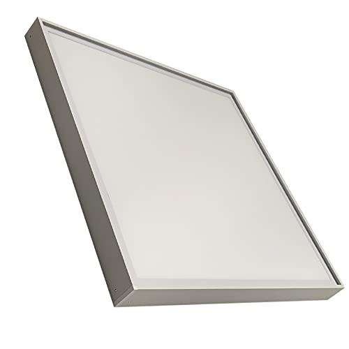 Kit de Panel LED 60x60 cm 40W Blanco frio (6500K) Y el Soporte para instalación en superficie. Todo completo para instalar en superficie.