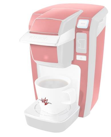 Decal Style Vinyl Skin compatible with Keurig K10 / K15 Mini Plus Coffee Makers Solids Collection Pink (KEURIG NOT INCLUDED)