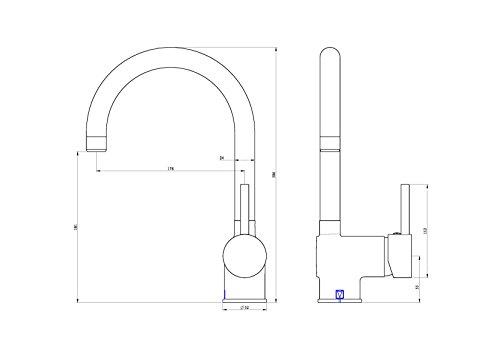 Eisl NI182HACRTOP – Futura c fregadero ehm con tapa de montaje,