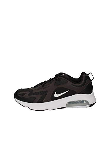 Nike Air MAX 200 Men's Shoe, Zapatillas para Correr Hombre, Black/White/Off Noir/Metallic Silver, 47 EU