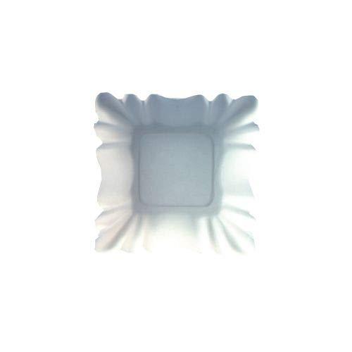 tradingbay24 Schalen, Pappe [ff] eckig 9 cm x 9 cm x 3 cm Weiss beschichtet tbU95342 Pappschalen Einwegschalen, 2000 Stück
