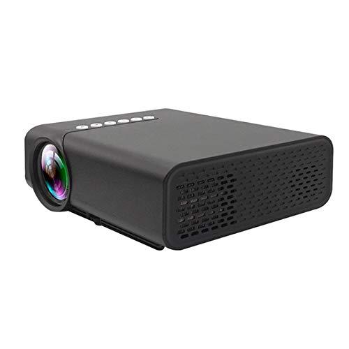Support HD PROYECTOR Mini Micro PROYECTOR HD 1080 Portátil Full HD 1080P Compatible con USB HD SD AV VGA para el Cine en casa with Projection Function (Color : Black, Size : 18.9 * 15.7 * 7.5cm)