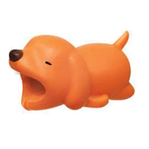 Gespout 1PCS Cable de Dibujos Animados Protector Animal línea de Datos Protectora Enrollador Protector de Cable de Datos Anti-Rotura Size 4 * 1.8 * 2cm (ajolote)