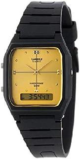 ساعة كاسيو مع توقيت ثنائي بنظام انالوج-رقمي بسوار من البلاستيك المطاطي AW-48HE-9AVDF