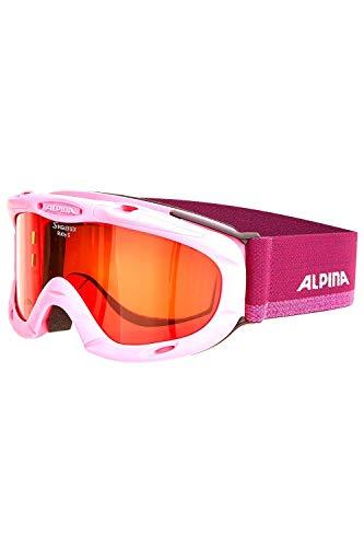 ALPINA Kinder Skibrille Kids Ruby S (Einheitsgröße, Rose-violett)
