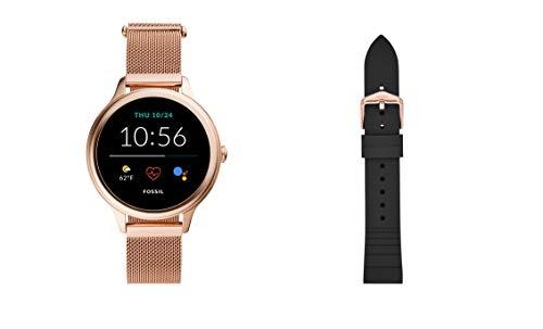 Fossil Connected Smartwatch Gen 5E para Mujer con tecnología Wear OS de Google, frecuencia cardíaca, GPS, NFC y notificaciones smartwatch + Correa para Reloj S181369