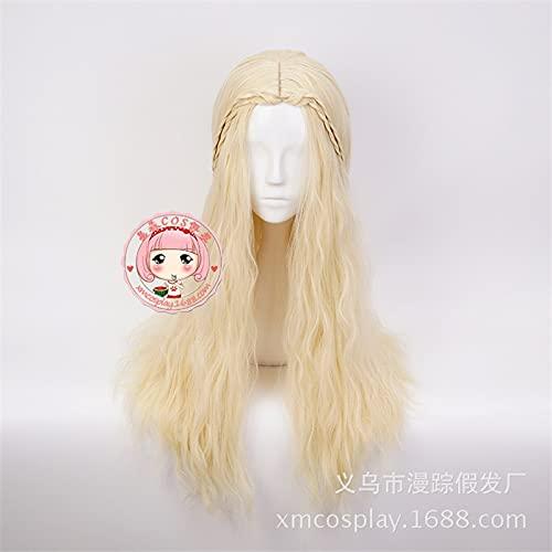 Game Of Thrones Blonde Wig Daenerys Targaryen Cosplay Khaleesi Halloween Costume Women Role Play Synthetic Hair Long Wig Mz-017