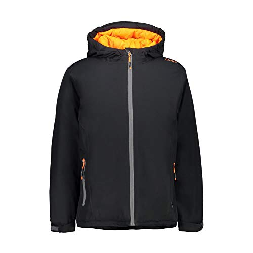 CMP Giacca ripstop 10.000 mm, Outdoor Bambino, Antracite-Orange Fluo, 152, Antracite-Orange Fluo