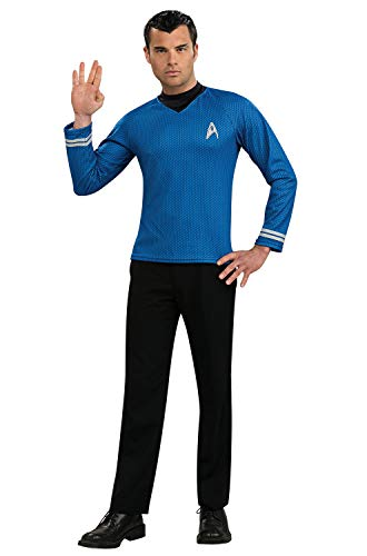 Rubie's mens Star Trek Into Darkness Costume, Spock Shirt With Emblem Costume, Multicolor, Large US