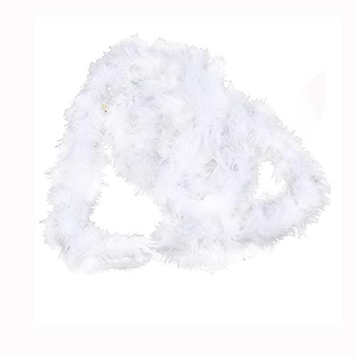 ZXCFTG Juego de 5 Boa de plumas de marabú esponjosas, de pluma fina de marabú Boa de 2 yardas de largo, guirnalda de plumas para árbol de Navidad, manualidades, costura, baile, fiesta de boda, sólido