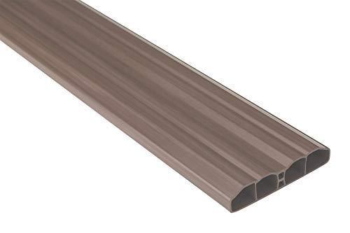 Zaunlatten Sparpaket PZL-09 | widerstandsfähiges Hart-PVC | Kunststoffzaun | Balkonbretter | pflegeleicht | braun klassisch | 80 x 16 mm | Hexim | 10 Meter