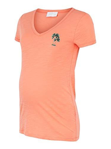 MAMALICIOUS Damen MLJOANA S/S Jersey TOP A. T-Shirt, Emberglow, M