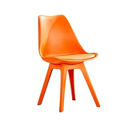 WYBW Silla de comedor para el hogar, silla de comedor de plástico Fuerte y resistente Taburete de salón moderno con respaldo alto Mostrador de maquillaje Taburete resistente para adultos Mostrador de