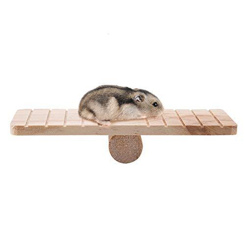 HEEPDD Balancín de Madera Juguetes de hámster Pequeño Juego de Animales Casa Jaula Masticar Juguete Accesorios para Mascotas Hamsters Rata Ratón Gerbil Chinchilla Conejillo de Indias Ardilla