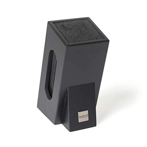 Sabatier 168-015 Universal-Messerblock, Aufbewahrung von 5 Messern, spülmaschinenfest, 25 x 10,8 x 10,6 cm, Schwarz