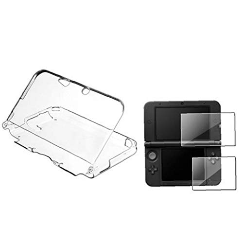 Rígido y ligero de la piel de plástico transparente de cristal de protección de Shell duro del caso para Nintendo 3DS XL