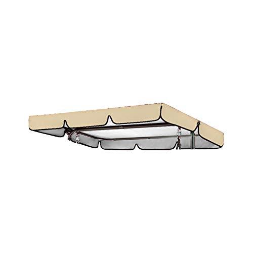 Funda de asiento para mecedora, resistente al agua y a la lluvia, cubierta superior para toldo de Sunshade jardín, repuesto para terraza, jardín, hamaca exterior (195 x 125 x 15 cm, beige)