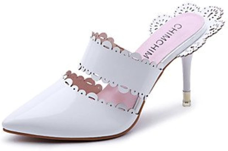 LvYuan-ggx Da donna Tac  Con cinghia TPU Prima  Estate Formale Footing Con cinghia Pizzo A stiletto Bianco Nero Tessuto almond 7,5-9,5 cm, nero, us8   eu39   uk6   cn39