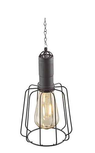 Lámpara solar de jardín para decoración de jardín, farol para exterior, lámpara solar de jardín (lámpara colgante, lámpara decorativa, LED, 50 cm, bombilla), color negro